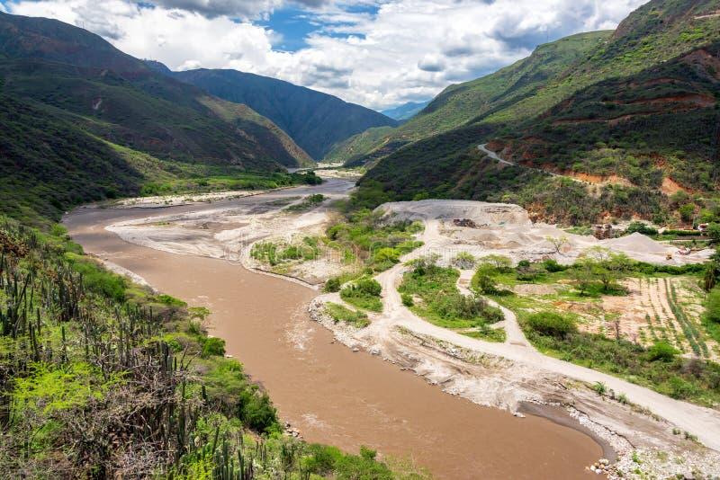 Opinião do rio de Chicamocha foto de stock royalty free