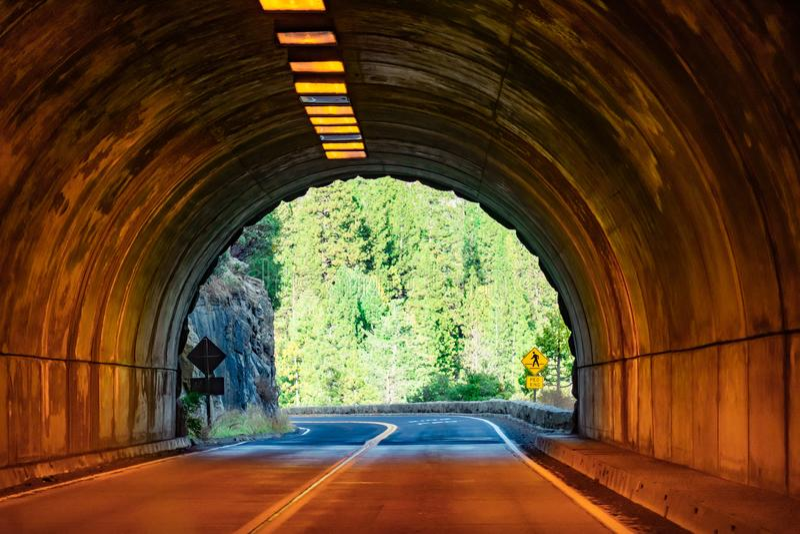 Opinião do túnel de Yosemite no dia imagens de stock royalty free