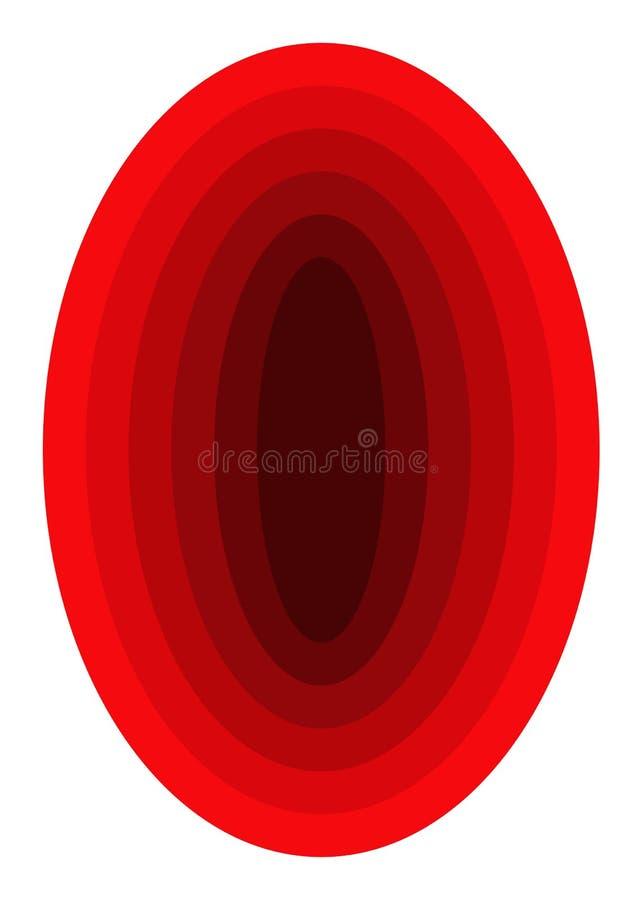 Opinião do túnel dentro do gráfico vermelho ilustração do vetor
