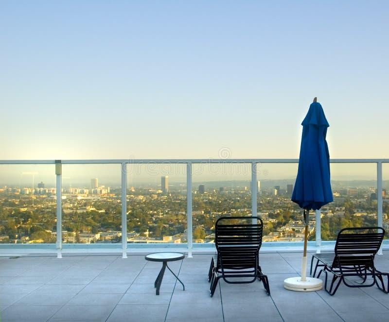 Opinião do telhado de Los Angeles imagens de stock royalty free