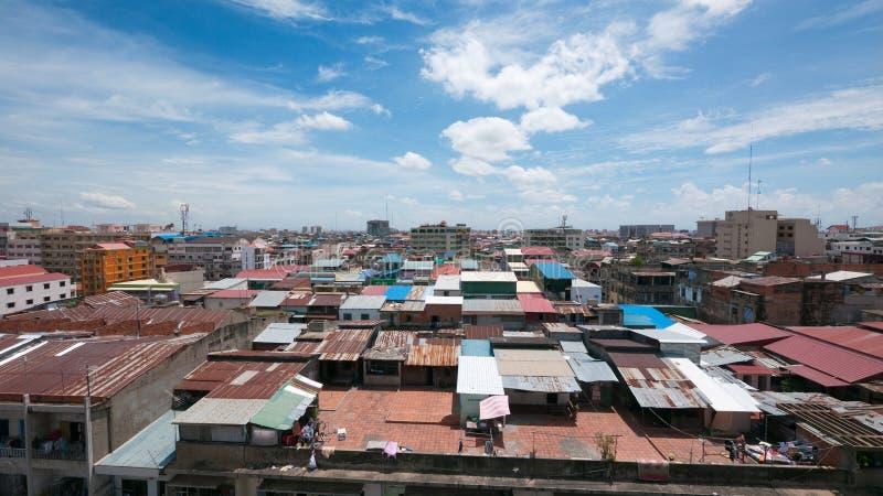 Download Opinião Do Telhado De Phnom Penh, Cambodia Imagem de Stock - Imagem de comunidade, vista: 26519015