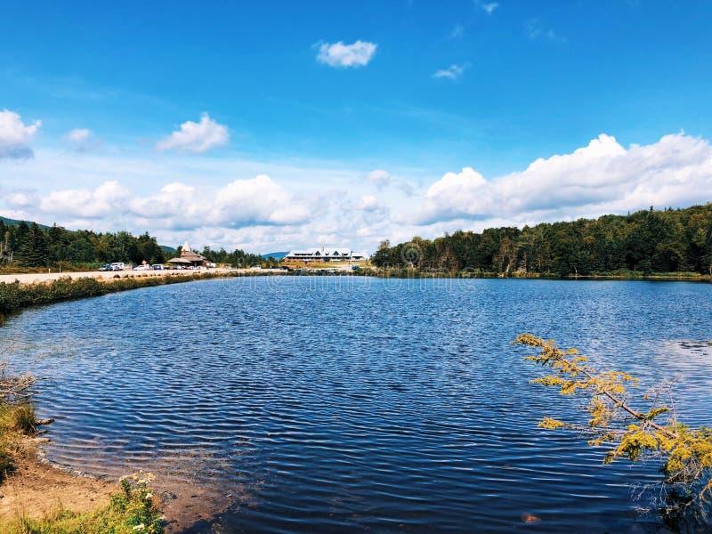 Opinião do verão do lago Saco em Crawford Notch imagem de stock royalty free