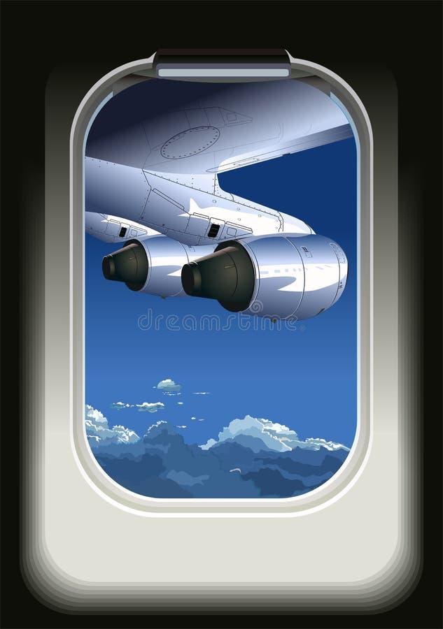 Opinião do vetor do avião ilustração do vetor