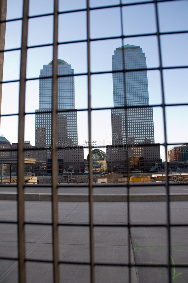 Opinião do World Trade Center imagens de stock royalty free