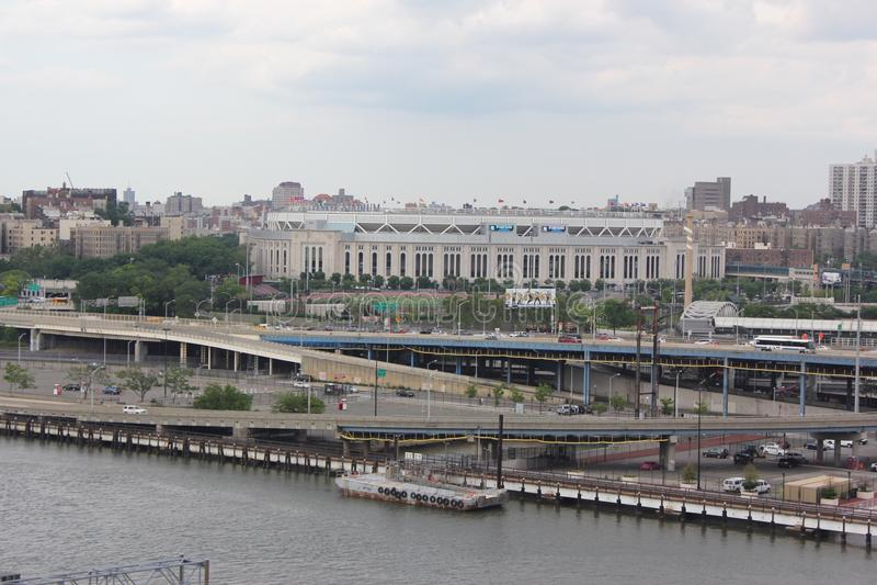 Opinião do Yankee Stadium foto de stock