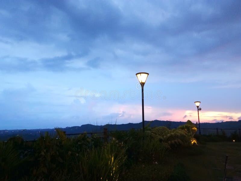 Opinião dos lagos twin de Tagaytay imagem de stock