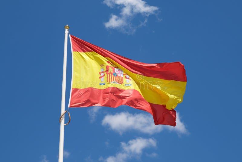 Opinião espanhola da bandeira imagem de stock