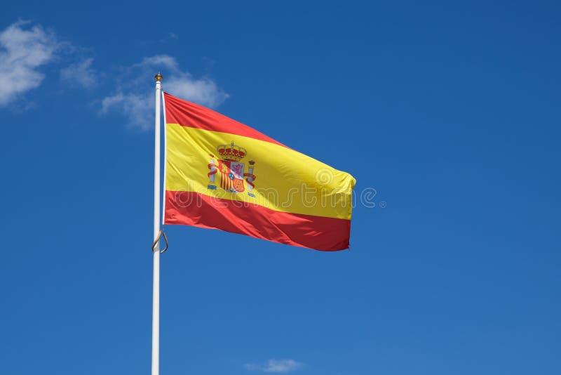 Opinião espanhola da bandeira foto de stock