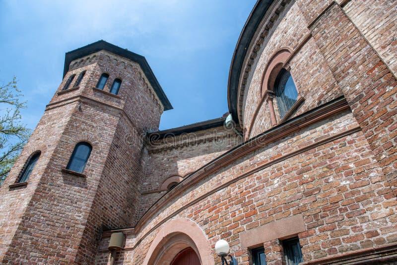 Opinião exterior da Igreja Congregacional circular, Charleston imagens de stock royalty free