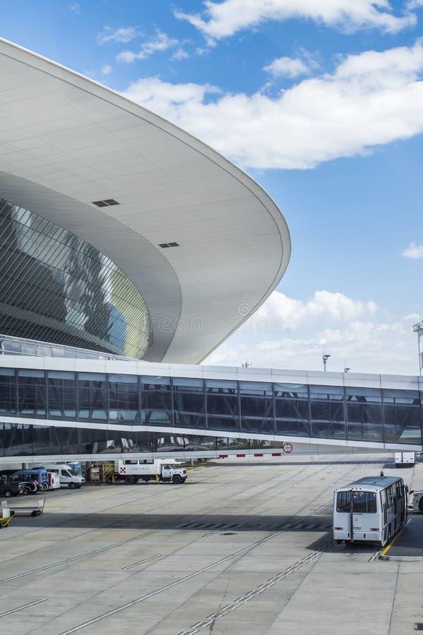 Opinião exterior do aeroporto de Montevideo foto de stock