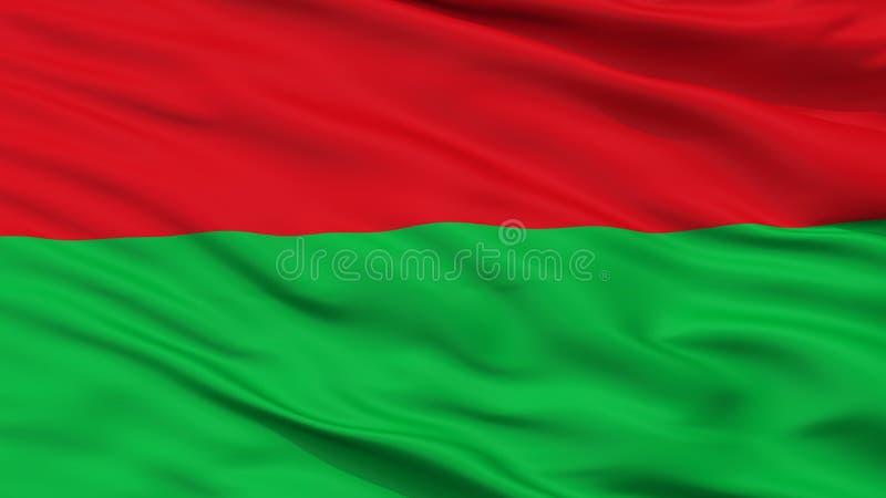 Opinião fictícia do close up da bandeira do otomano ilustração stock