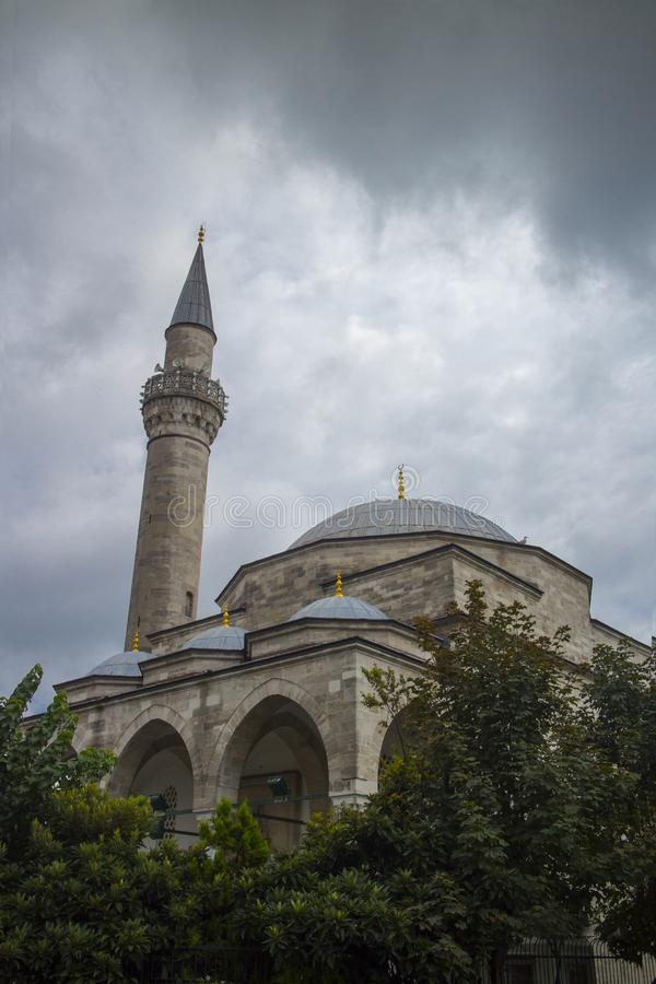 Opinião Firuz Agha Mosque imagens de stock royalty free