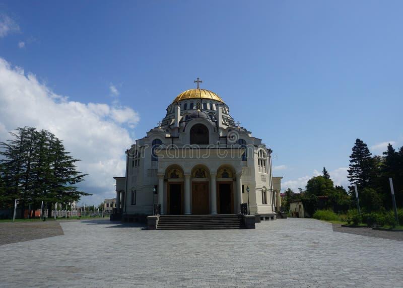 Opinião frontal da catedral principal de Poti foto de stock royalty free