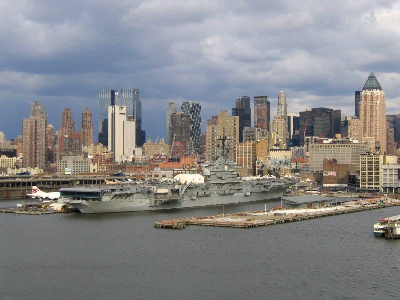 Opinião geral de New York City Manhattan fotografia de stock