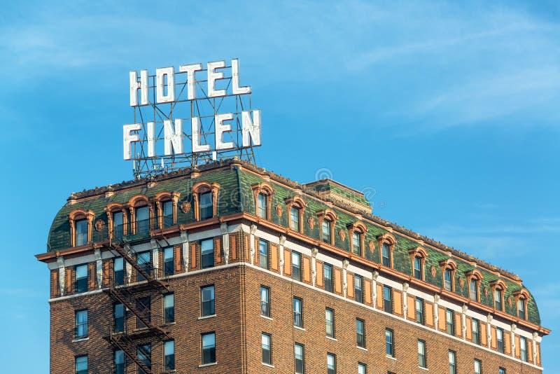 Opinião histórica do hotel imagem de stock royalty free