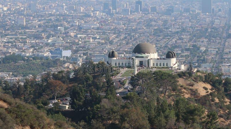 Opinião Hollywood Hills do obervatório da cidade de Los Angeles foto de stock royalty free