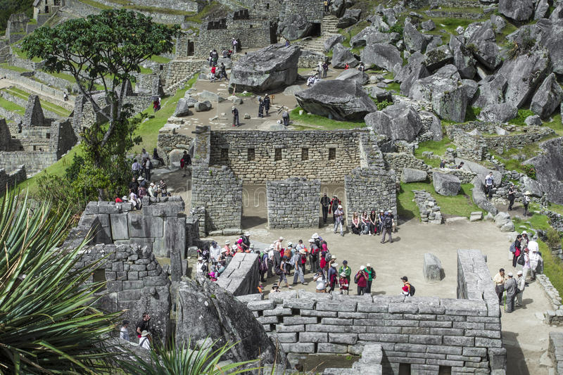 Opinião Inca City antigo de Machu Picchu O século XV imagens de stock