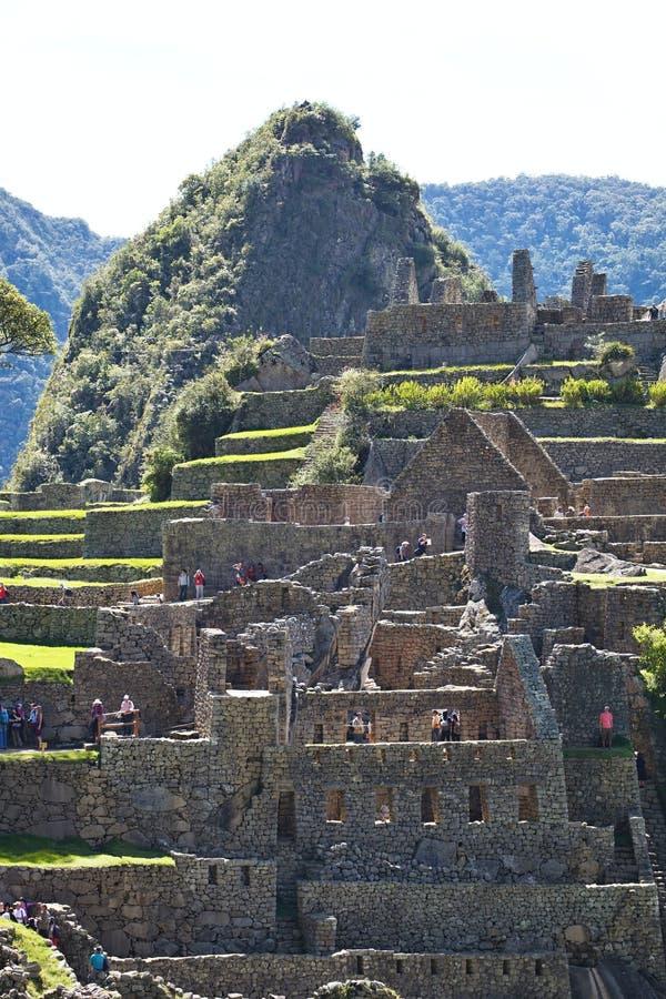 Opinião Inca City antigo de Machu Picchu, Peru foto de stock