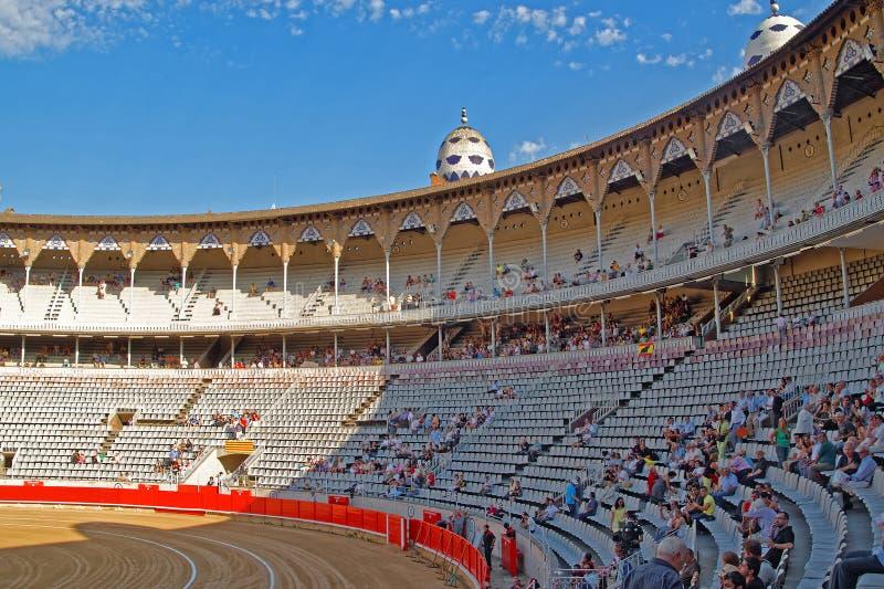Opinião interior da arena monumental do La, Barcelona, Catalonia, Espanha imagem de stock royalty free