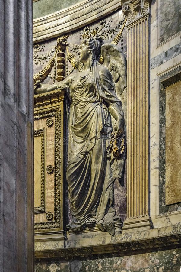 Opinião interior do panteão, Roma, Itália imagens de stock