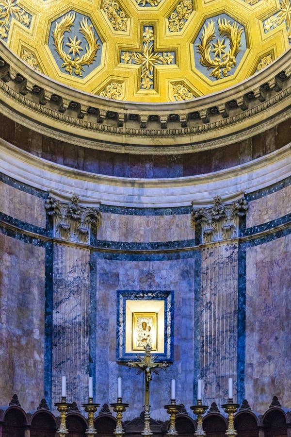 Opinião interior do panteão, Roma, Itália foto de stock royalty free