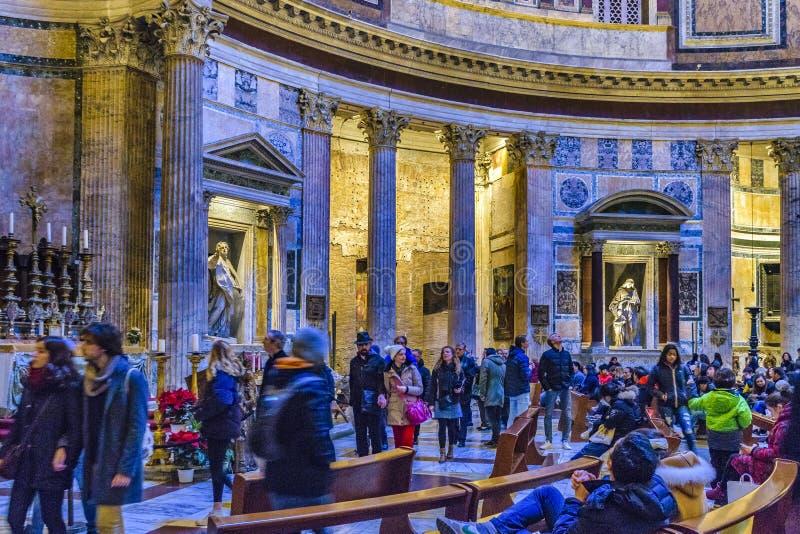 Opinião interior do panteão, Roma, Itália fotografia de stock