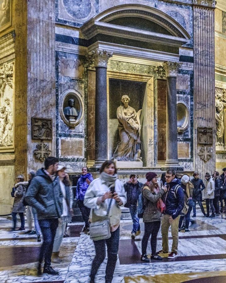Opinião interior do panteão, Roma, Itália fotos de stock royalty free