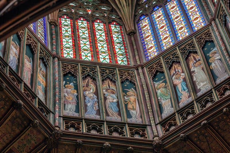 Opinião interior Ely Cathedral imagens de stock