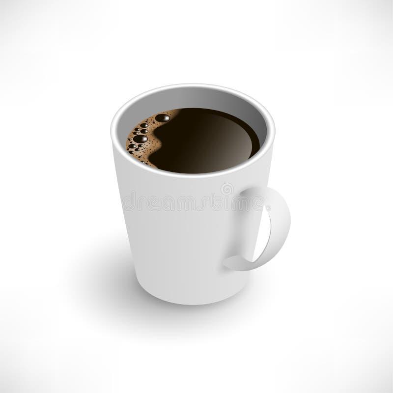Opinião isométrica de copo de café preto ilustração royalty free