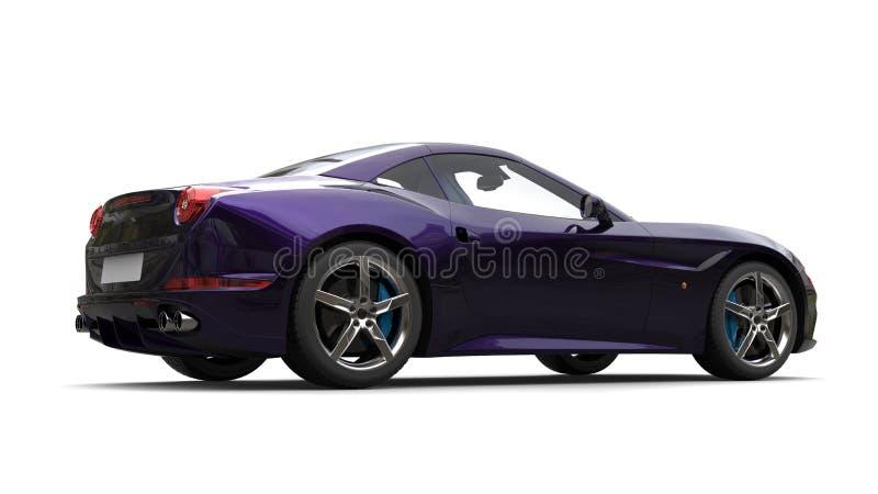 Opinião lateral automobilístico dos esportes luxuosos roxos metálicos surpreendentes ilustração stock