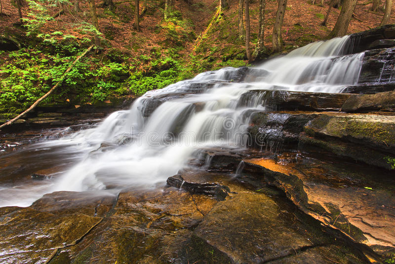 Opinião lateral Beecher Creek imagens de stock