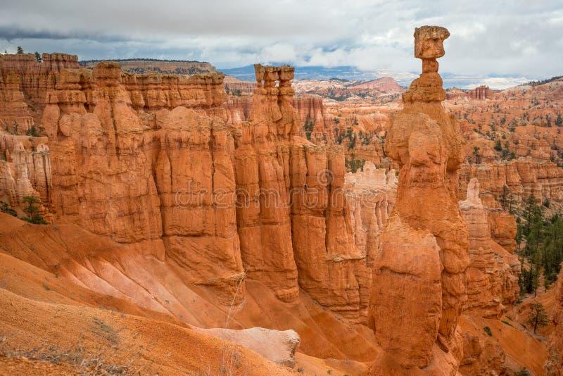 Opinião lateral Bryce Canyon fotos de stock