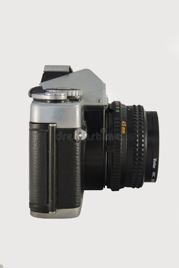 opinião lateral da câmera do filme de 35mm fotos de stock