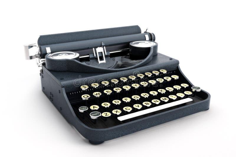 Opinião lateral da máquina de escrever retro do vintage imagens de stock royalty free