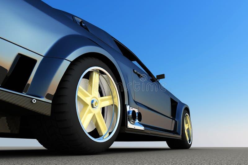 Opinião lateral de carro de esportes imagens de stock royalty free