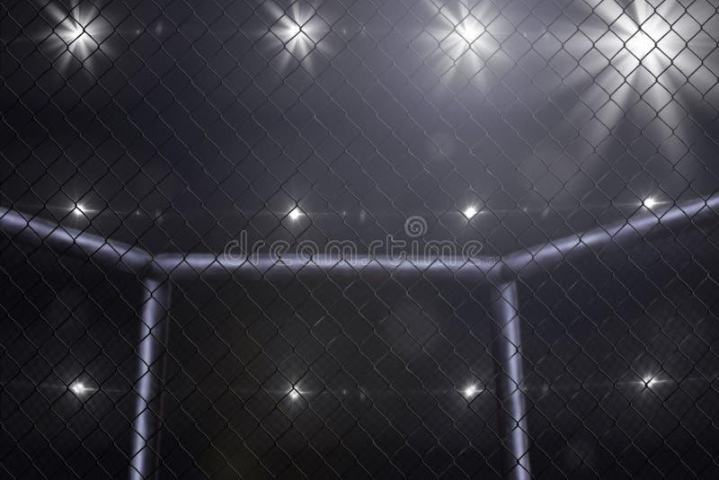 Opinião lateral de combate da fase do Muttahida Majlis-E-Amal sob luzes fotografia de stock royalty free