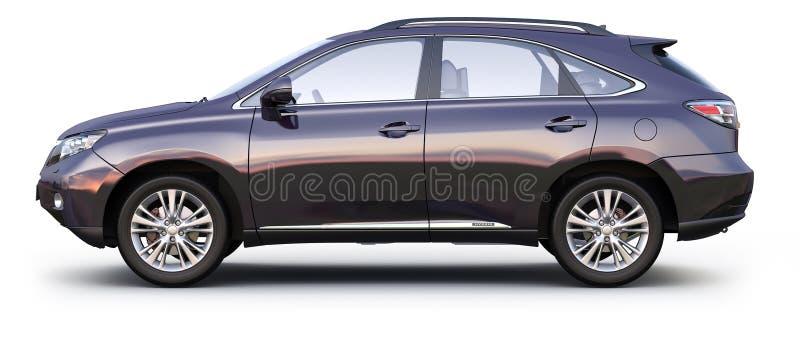 Opinião lateral do CARRO preto de SUV ilustração stock