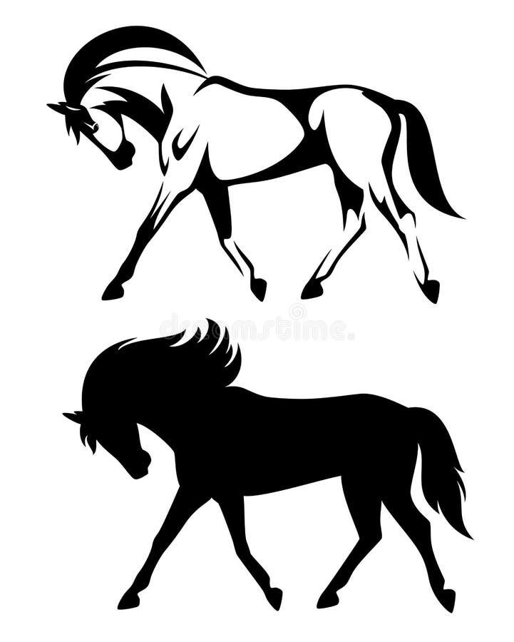 Opinião lateral do cavalo running ilustração stock