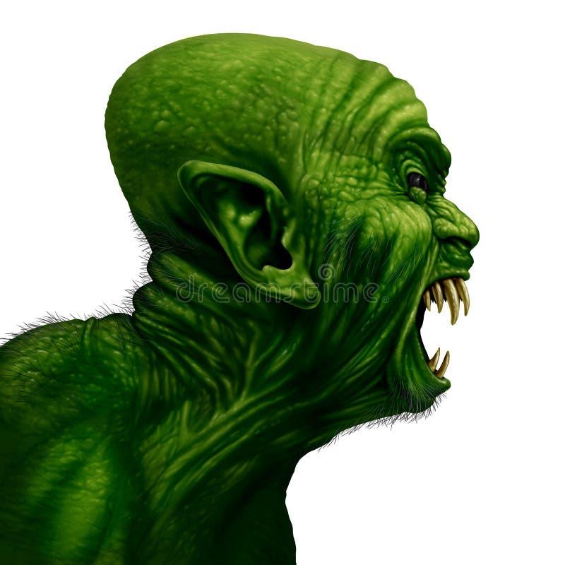 Opinião lateral do monstro ilustração do vetor