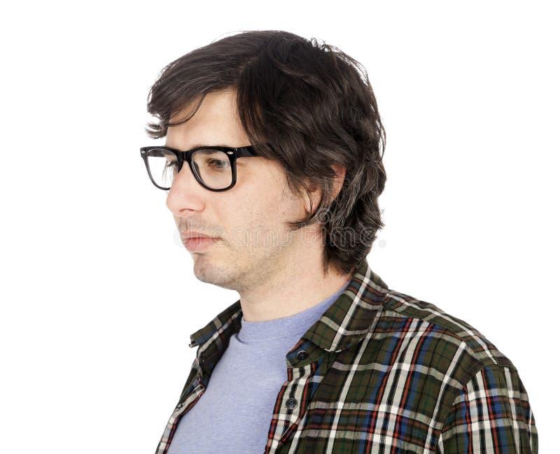 Download Geekster preocupado foto de stock. Imagem de geek, flannel - 29829928