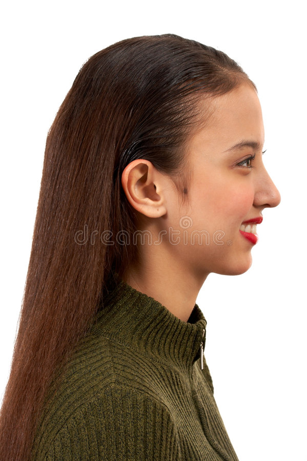 Opinião lateral uma mulher imagem de stock