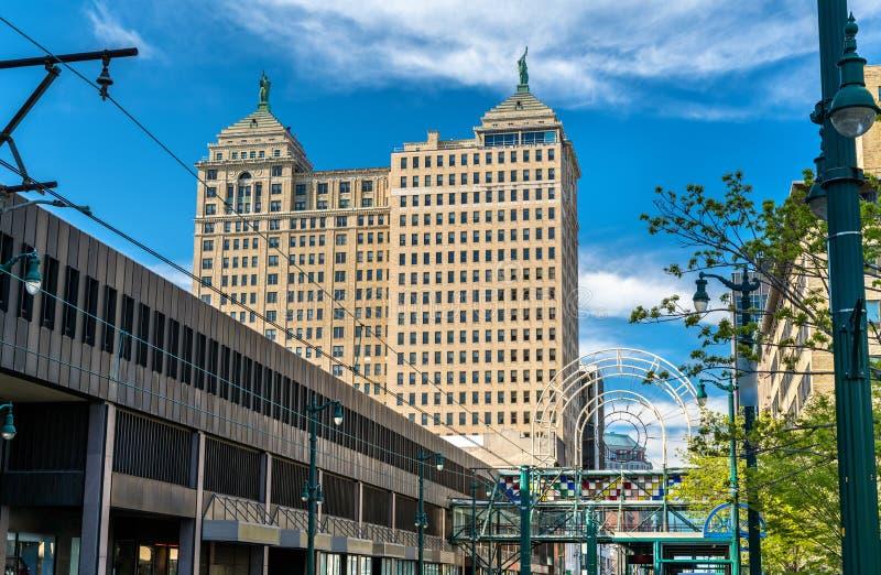 Opinião Liberty Building no búfalo - NY, EUA Construído em 1925 no estilo neoclássico imagem de stock royalty free
