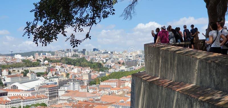 Opinião Lisboa de Pano imagem de stock royalty free