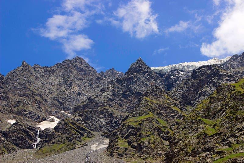 Opinião magnífica da paisagem de montanhas rochosas imagem de stock royalty free
