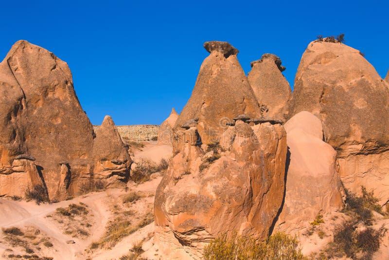 Opinião maravilhosa da paisagem de Cappadocia fotografia de stock royalty free
