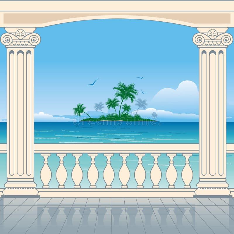Opinião maravilhosa do mar ilustração do vetor
