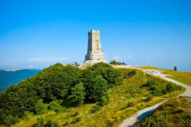 Opinião memorável de Shipka em Bulgária fotos de stock
