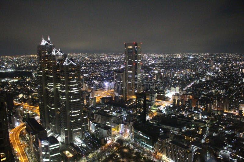 Opinião metropolitana japão da noite do governo do Tóquio fotografia de stock royalty free