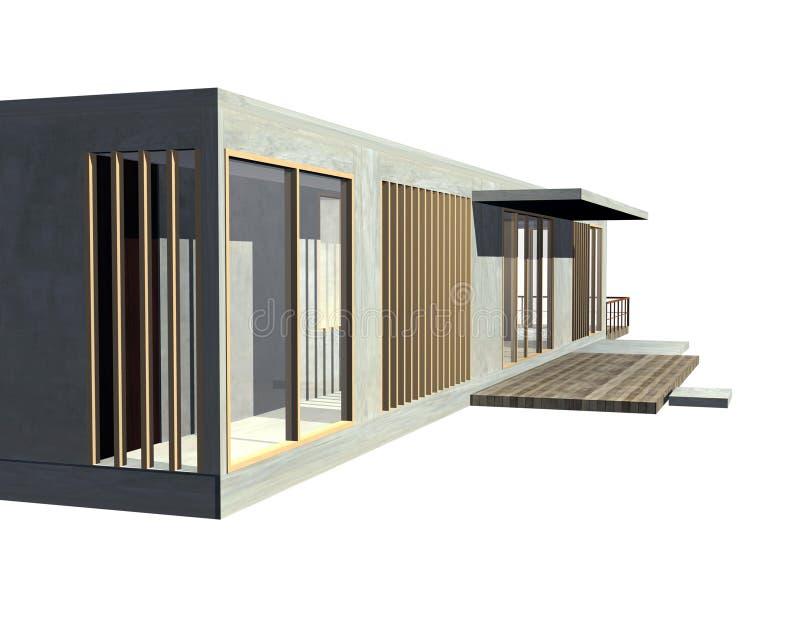 Opinião moderna da entrada da arquitetura ilustração stock