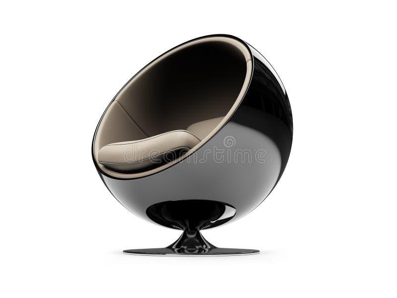 Opinião moderna isolada da mobília ilustração royalty free